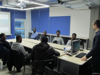 International students visited IT-company